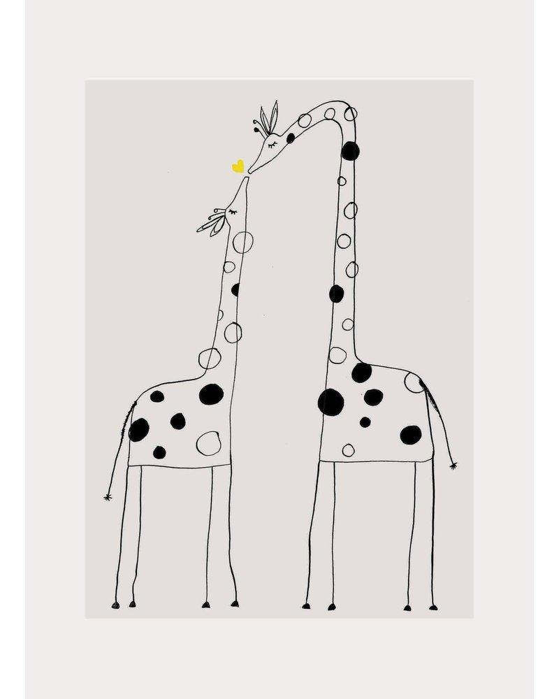 Pomme de Jus ansichtkaart giraffe