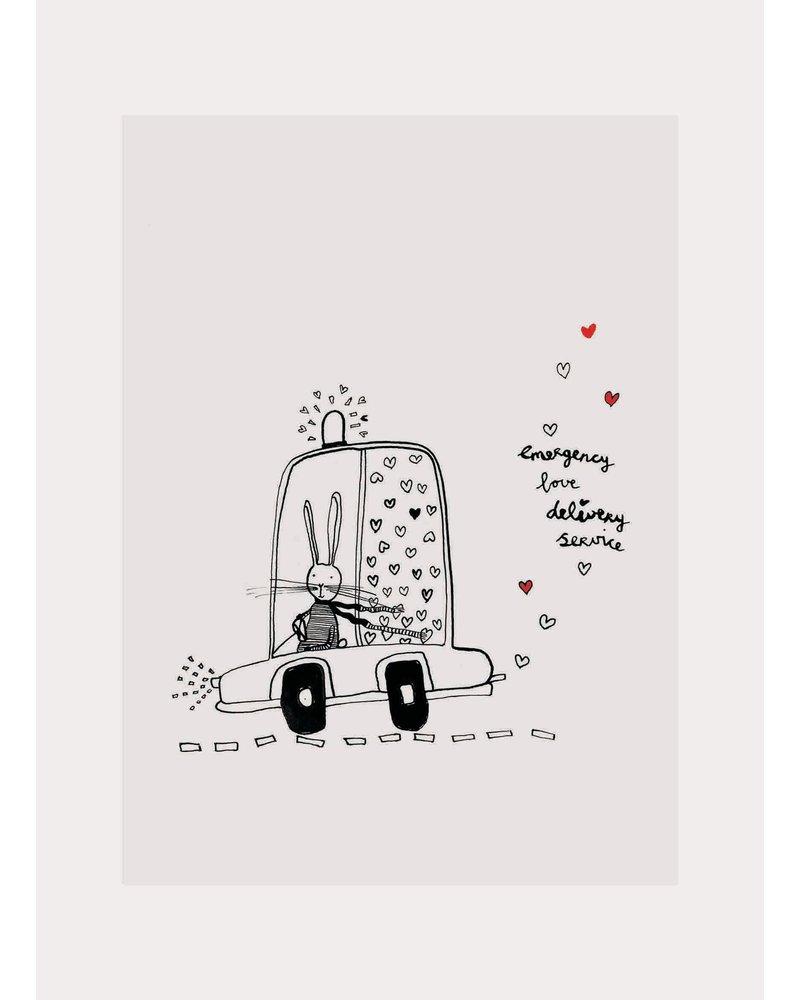 Pomme de Jus ansichtkaart love delivery service