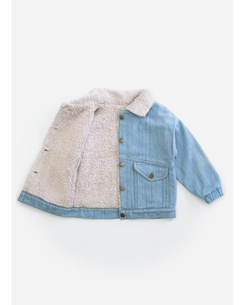 Play Up recycled denim jacket - D001 - PA03 - 3AH11404