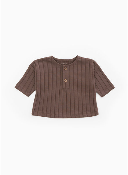 Play Up rib shirt - walnut - P8062 - PA01 - 1AH11004