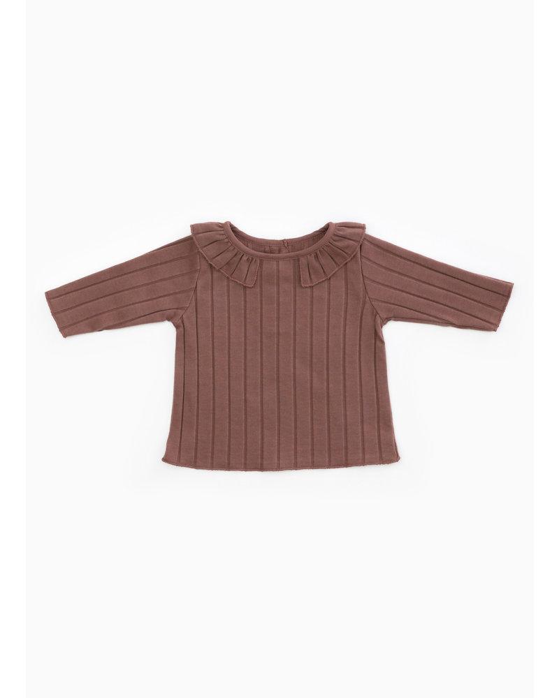 Play Up rib tshirt - purplewood - P4112 - PA02 - 2AH11003