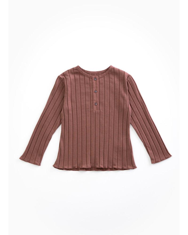 Play Up rib tshirt - purplewood - P4112 - PA04 - 4AH11003