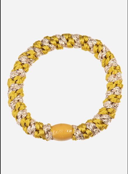 Bon Dep kknekki green gold-beige glitter stripe