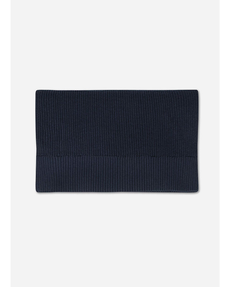 Repose knit scarf large navy blue