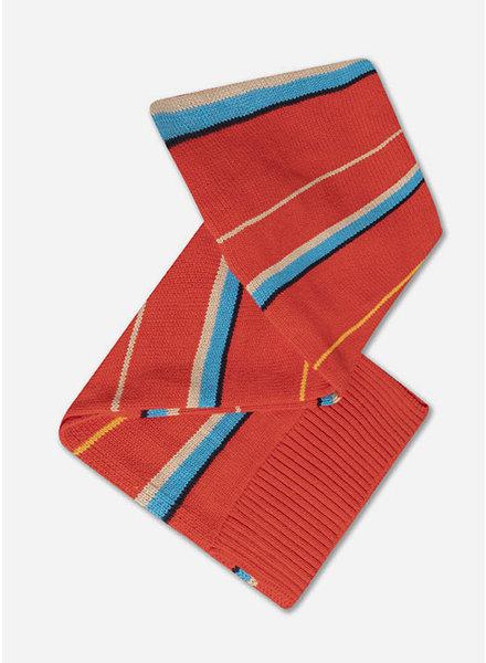 Repose knit scarf small diagonal stripe