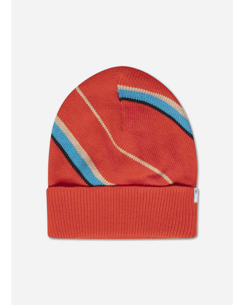 Repose knit hat diagonal stripe