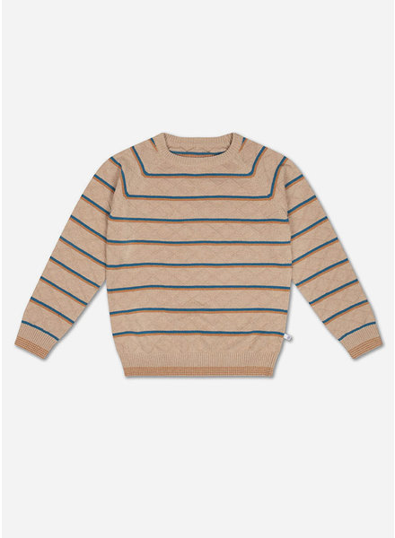 Repose knit raglan sweater stranger stripe