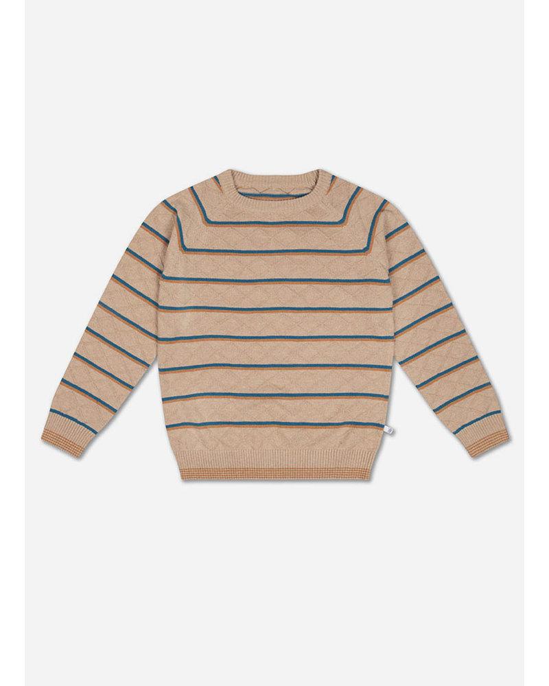 Repose knit raglan sweater stranger stripe