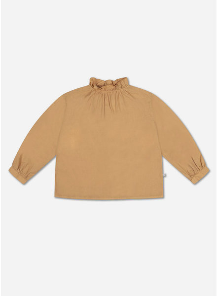 Repose ruffle blouse warm sand