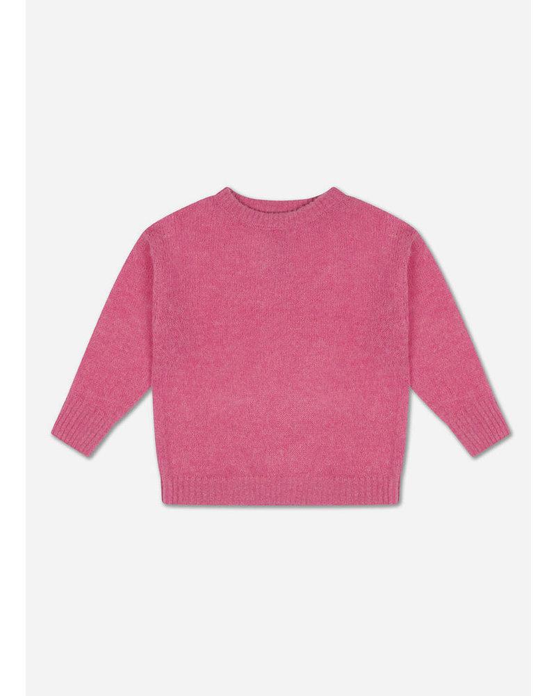 Repose knit boxy sweater glory pink