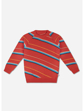 Repose knit raglan sweater diagonal stripe