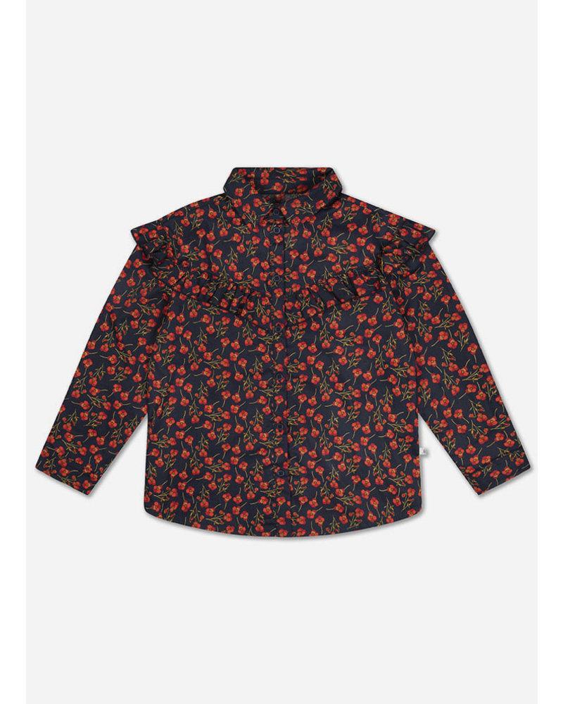 Repose moony blouse liberty marine poppy