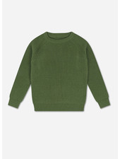 Repose knit raglan sweater hunter green