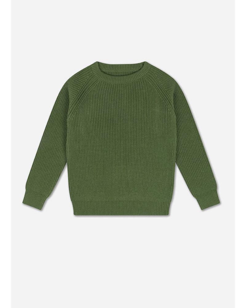 Repose knit raglan sweater hunter green