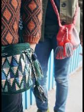 Guanabana extra small Wayuu bag 1434