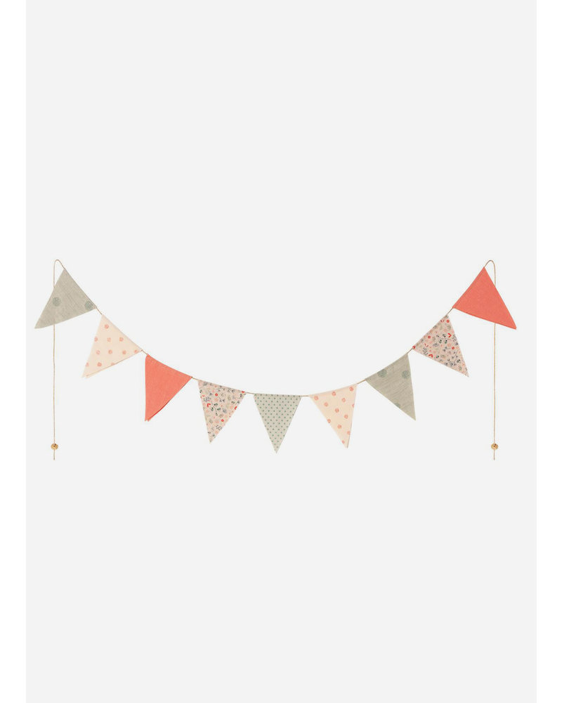 Maileg garland 9 flags multi color