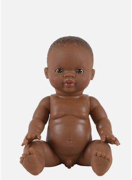 Minikane jongens pop d'Afrique aux yeux caramel