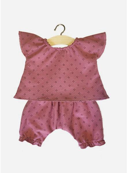 Minikane poppenkleertjes pyjama laura rose
