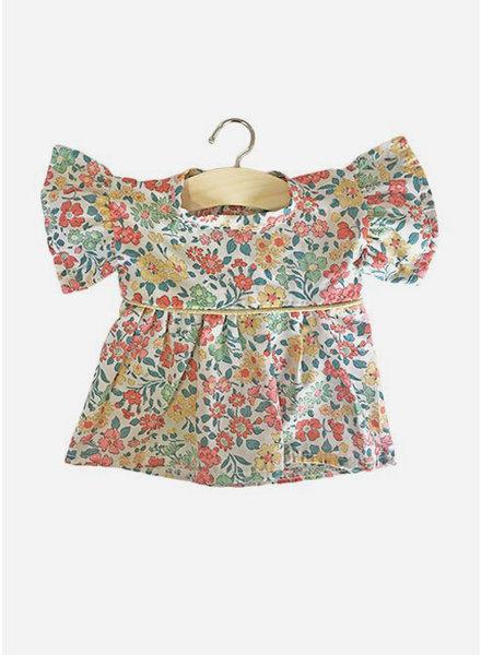 Minikane poppenkleertjes robe daisy en coton liberty