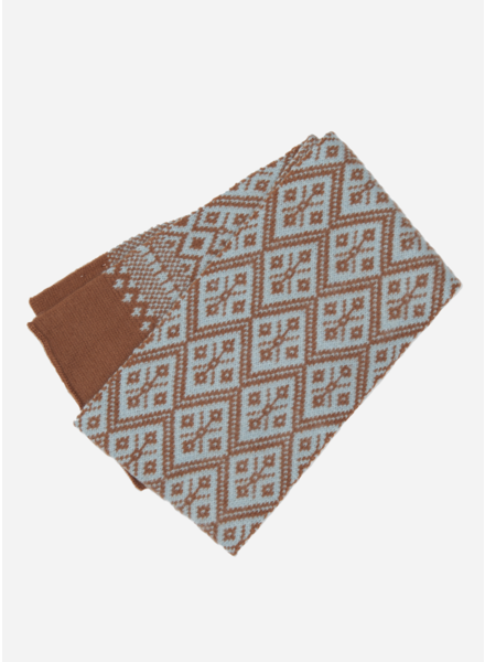 Wander & Wonder aztec scarf caramel