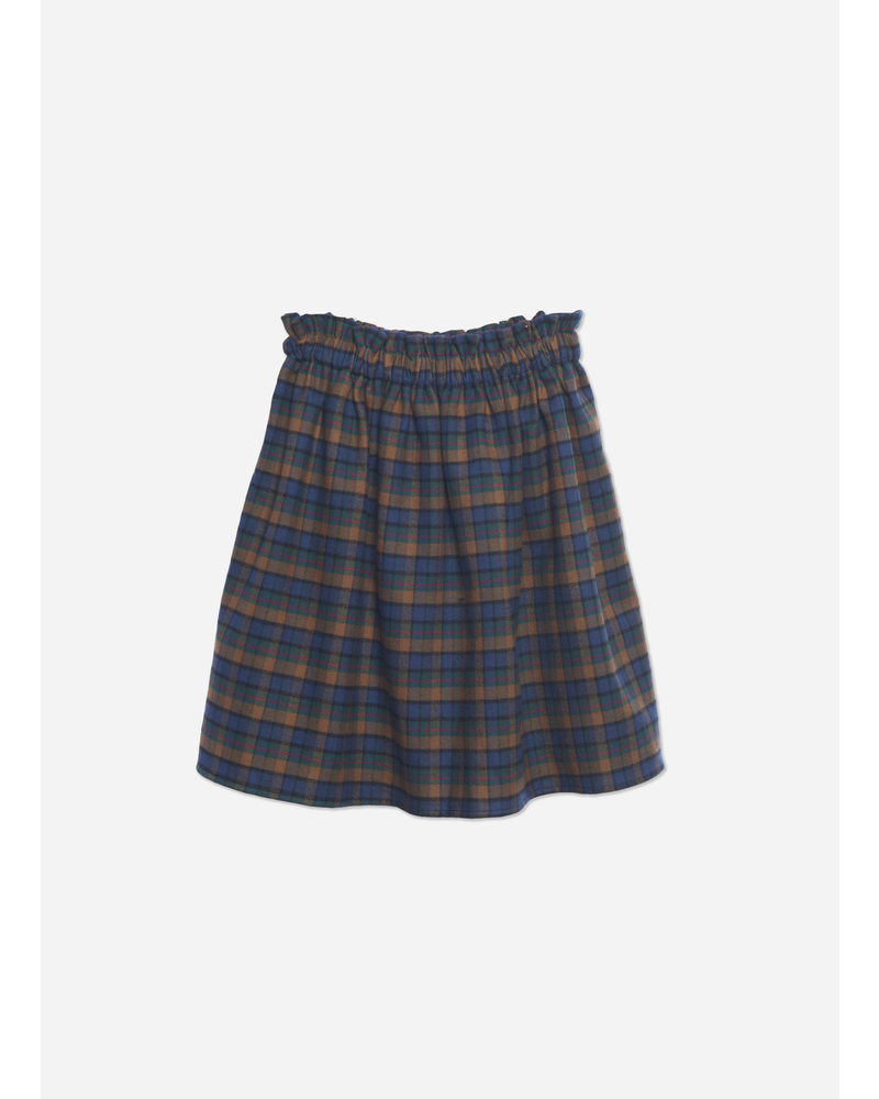 Wander & Wonder gathered skirt mist plaid
