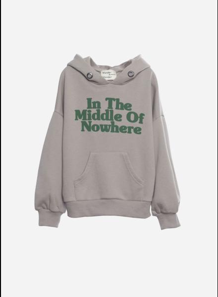 Wander & Wonder hoodie sweatshirt ash