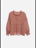 Wander & Wonder ruffle blouse tan lurex