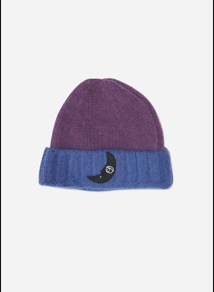 Wander & Wonder two tone beanie purple blue