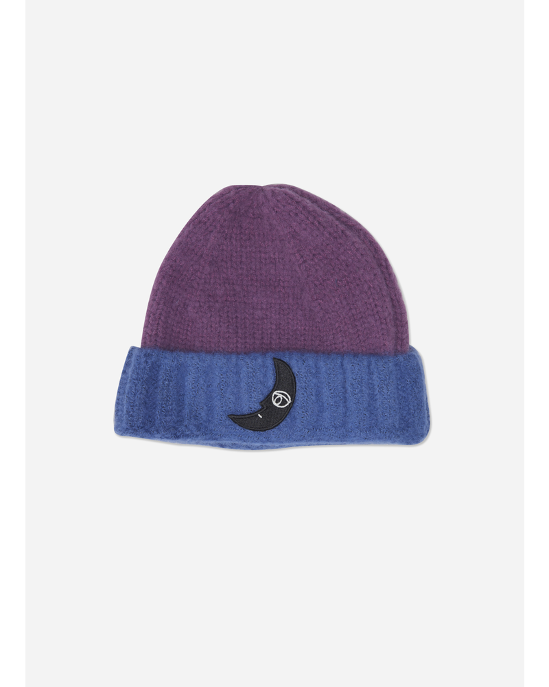 Wander & Wonder two tone beanie purple blue