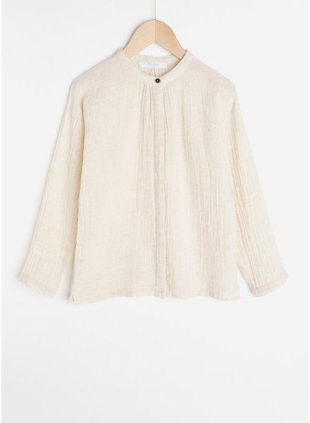 By Bar celie slub blouse - sand