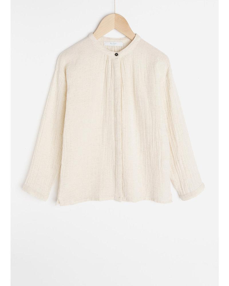 By Bar celie slub blouse - sand