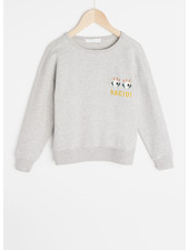 By Bar becky art sweater - grey melee