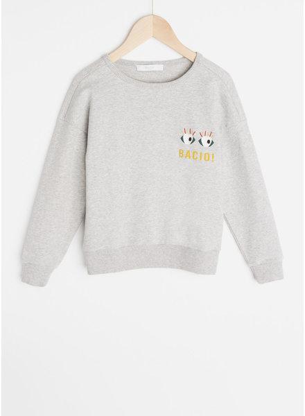By Bar becky art sweater - grey melee