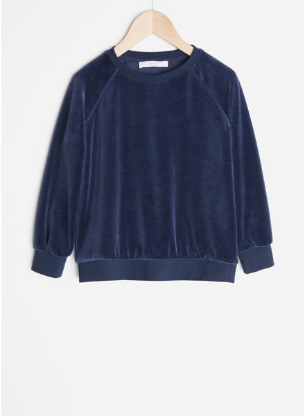 By Bar teddy velvet sweater - indigo blue