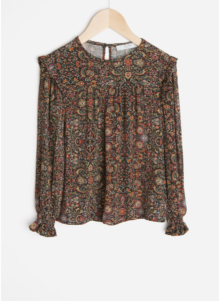 By Bar mila indian flower blouse - multi