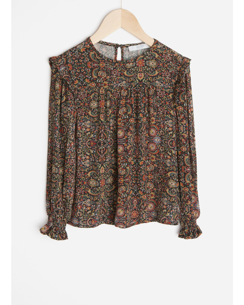 By Bar mila indian flower blouse - multi