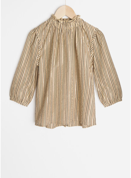 By Bar celine sparkle stripe blouse - stone sand