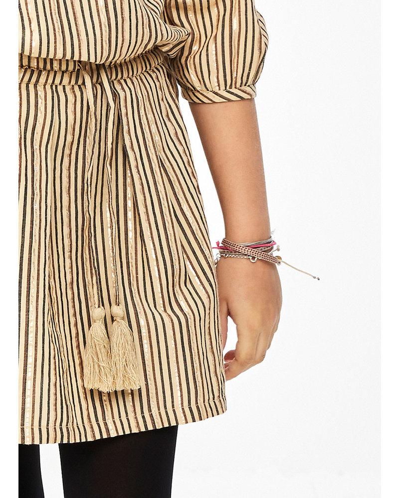 By Bar palino sparkle stripe skirt - stone sand