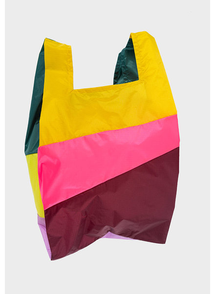 Susan Bijl shopping bag party helio & fluo pink