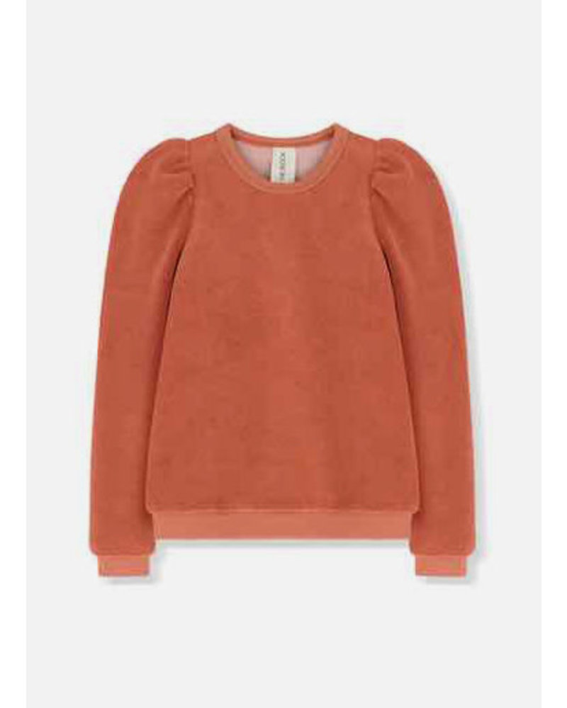 Kids on the moon amber puff top french terry