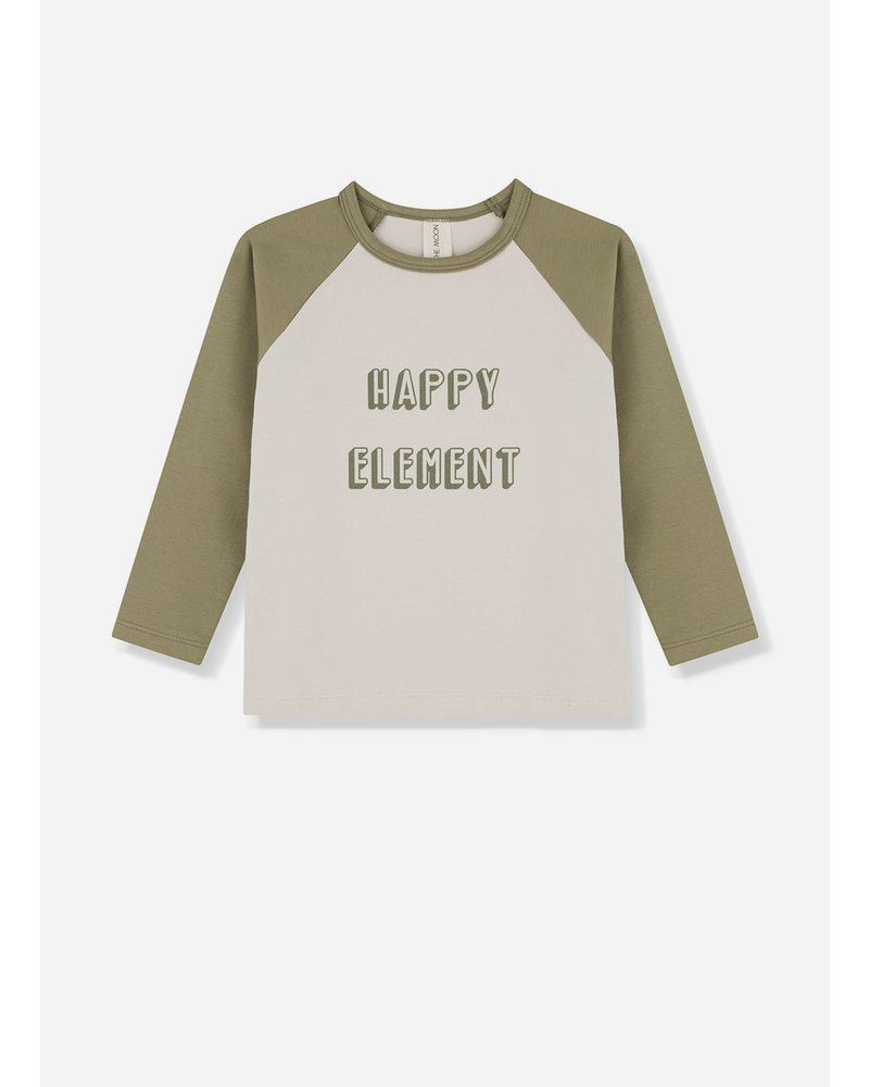 Kids on the moon happy element green longsleeve