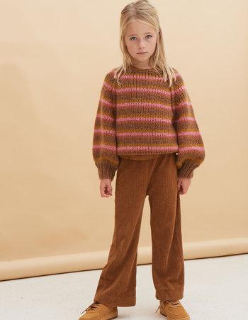 Long Live The Queen striped sweater copper stripe
