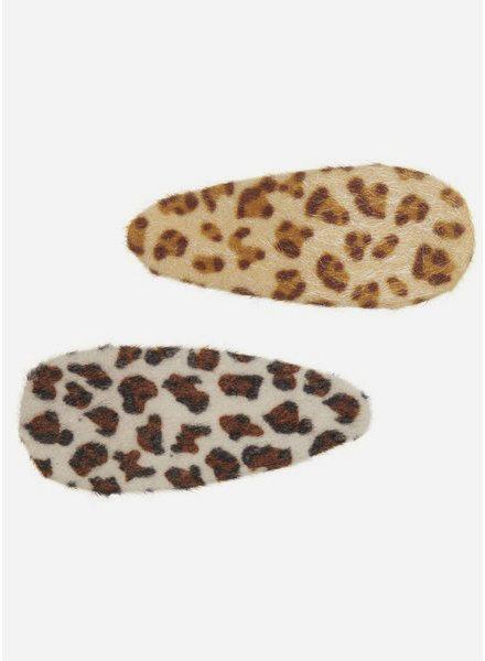 Mimi and Lula furry leopard clic clacs
