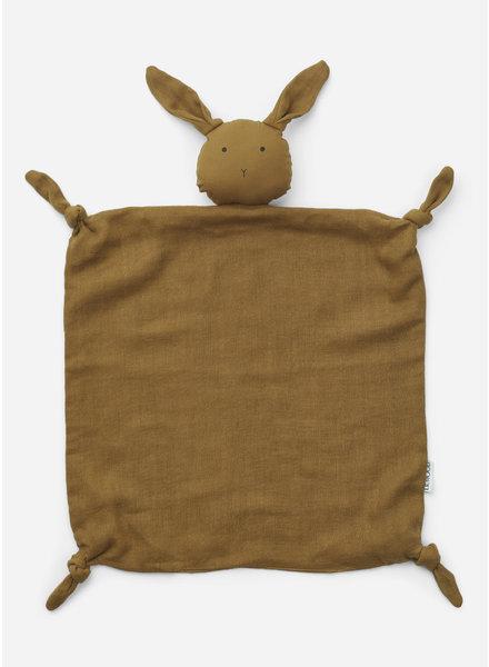 Liewood agnete cuddle cloth - rabbit olive green