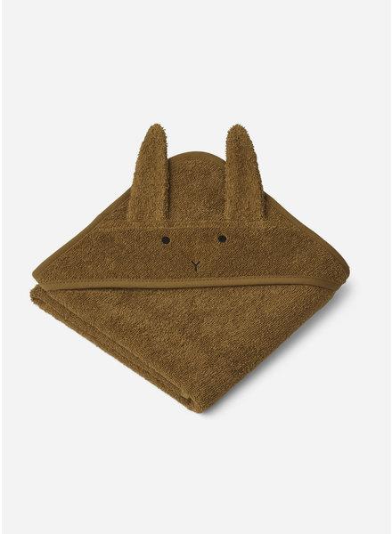 Liewood albert hooded towel - rabbit olive green