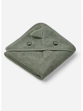 Liewood albert hooded towel - dino green