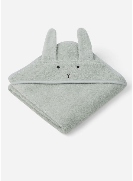 Liewood albert hooded towel - rabbit dusty mint