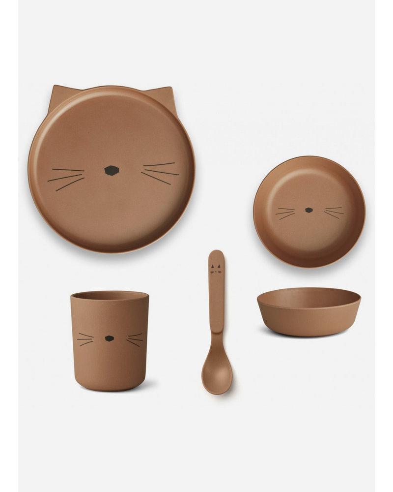 Liewood bamboo boxset - cat terracotta