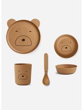 Liewood bamboo boxset - bear mustard