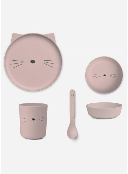 Liewood bamboo boxset - cat rose